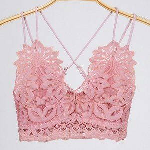 NWT Peach Love California Light Pink Lace Bralette